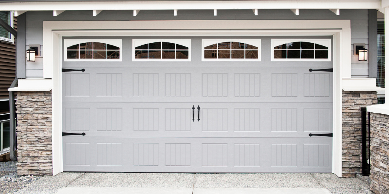 Modern Garage Door in gray colour