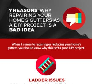 7 Reasons Why Repairing Your Home's Gutters as a DIY Project is a Bad Idea [infographic]