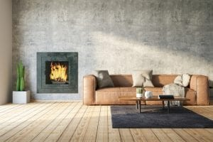 variety of different types of fireplaces