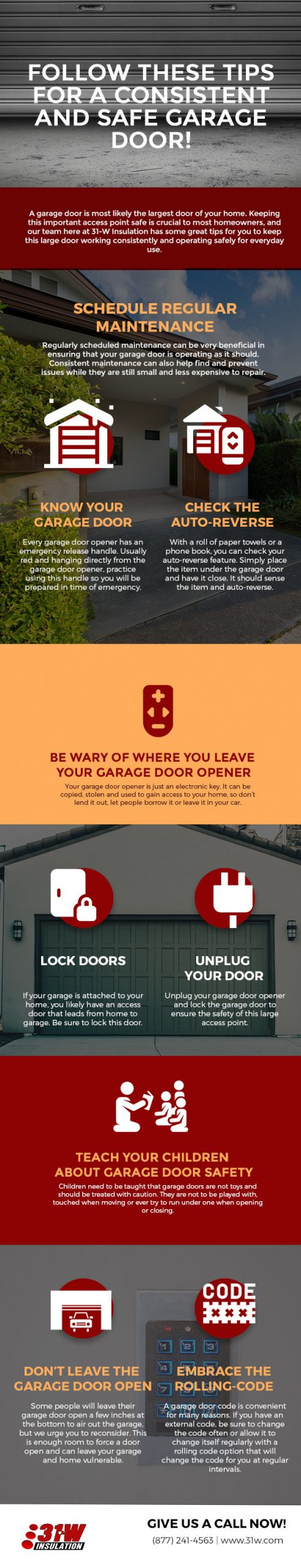 Follow these tips for a consistent and safe garage door